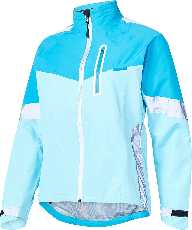 Madison Protec Waterproof Jacket Ladies Women Female Coat Cycling Cycle Bike Riding Winter Commuting Mountain MTB Road Sport Outdoor Clothing Clothes Biking Hi Viz Ride Wear Blue//Sky Size 8