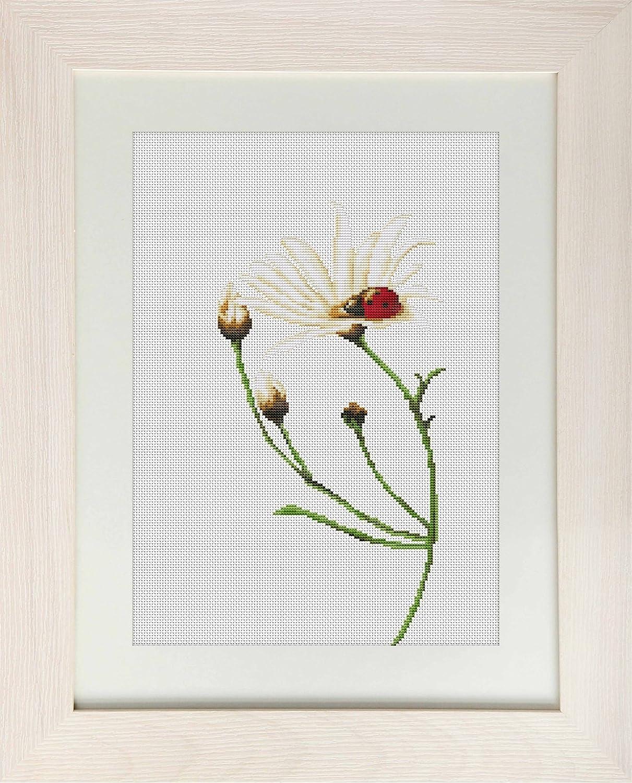 Luca-S Kreuzstich-Zählmusterpackung Marienkäfer auf Blüte
