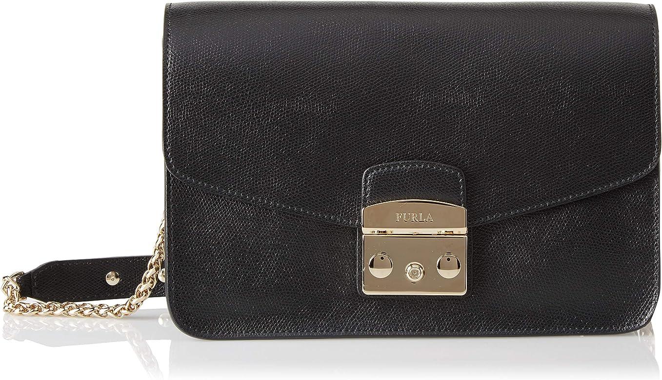 dede43d9b Amazon.com: FURLA Metropolis Small Shoulder Bag, Black (Onyx): Shoes