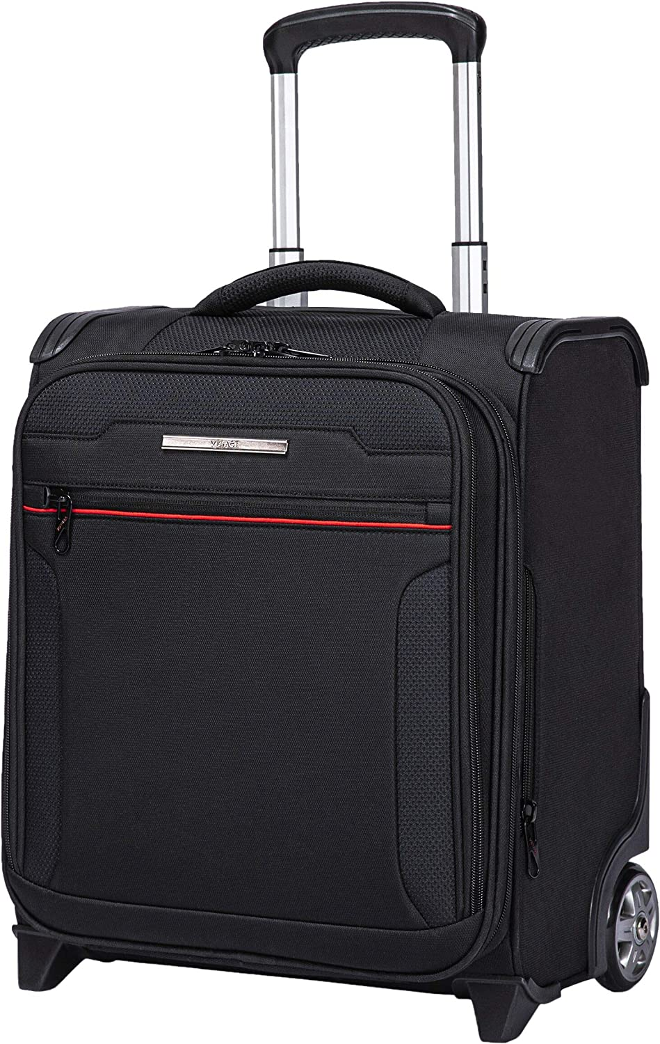 VERAGE Wheeled Underseat Carry-on Rolling business Suitcase with USB port,16.5 Inch Softside Airline Approved Luggage