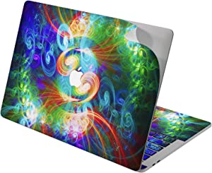 """Cavka Vinyl Decal Skin for Apple MacBook Pro 13"""" 2019 15"""" 2018 Air 13"""" 2020 Retina 2015 Mac 11"""" Mac 12"""" Laptop Sticker Psychedelic Print Protective Art Design Trippy Glowing Cover Abstract Fractal"""