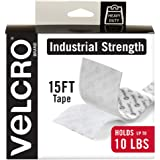 VELCRO Brand Industrial Strength Fasteners | Stick-On Adhesive | Professional Grade Heavy Duty Strength Holds up to 10 lbs on