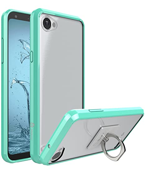 timeless design a0dbb 3d8fe LG Q6 Case, Style4U Scratch Resistant Shock Absorbent Ultra Slim  Transparent Clear PC Back TPU Bumper Protective Case for LG Q6 with 2 Ring  Holder ...