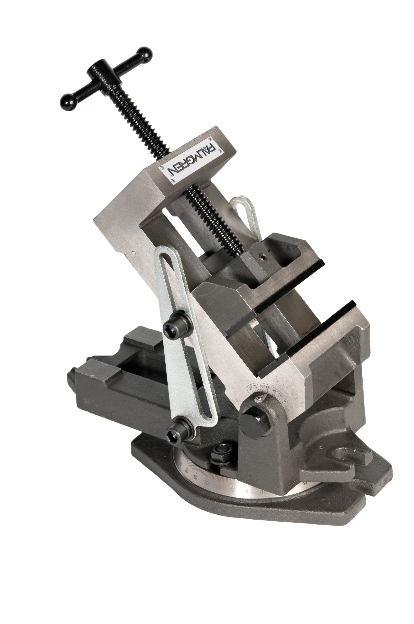 Palmgren Industrial style angle vise with swivel base, 4''
