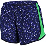 Nike Big Girls' (7-16) Dri-Fit Tempo Allover Print Running Shorts-Deep Royal Blue/Green-Medium