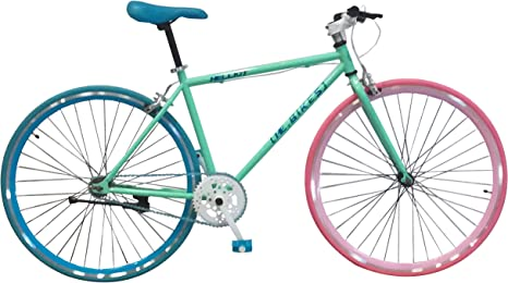 Helliot Bikes Soho 12 Fixie, Adultos Unisex, Verde, Talla única ...