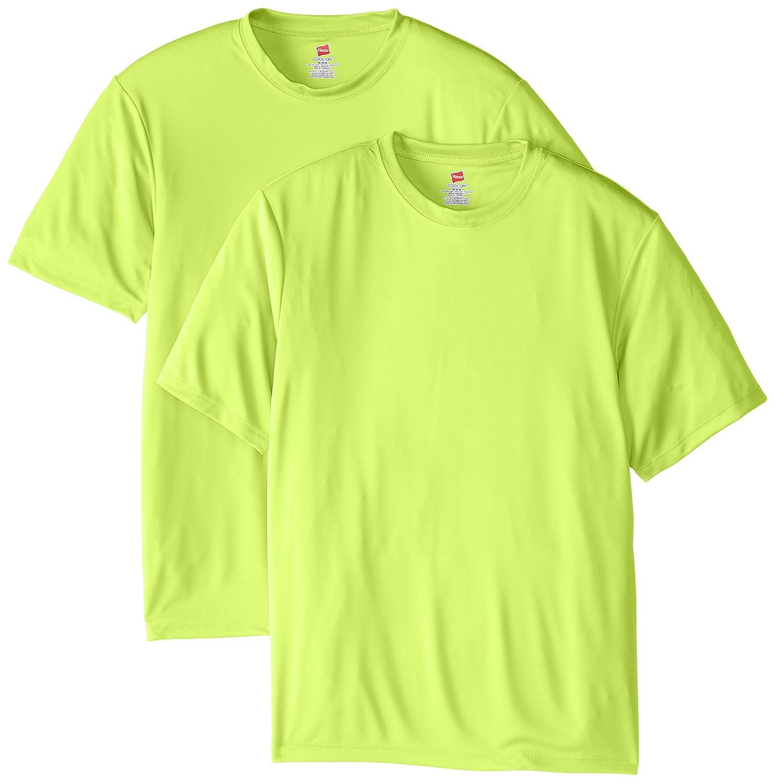 ヘインズ メンズ半袖クールドライTシャツ B00KQFLAEY 4L|グリーン(Safety Green) グリーン(Safety Green) 4L