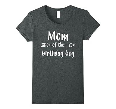 Womens Mom Of Birthday Boy Shirt Gift Small Dark Heather