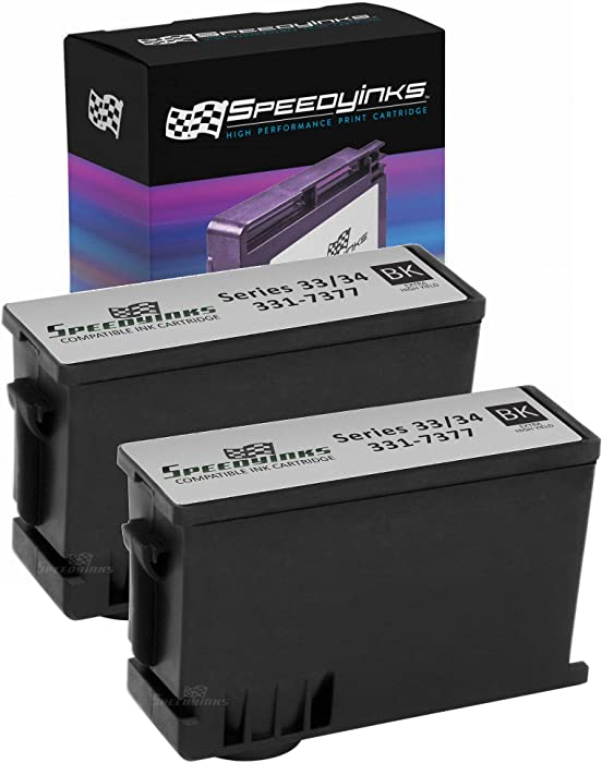 Speedy Inks Compatible Toner Cartridge Replacement for Dell 331-7377 T9FKK Extra High-Yield (Black, 2-Pack)