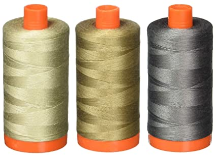 Dove Aurifil A1050-2600 Solid 50 Weight 1422 yd Cotton Thread