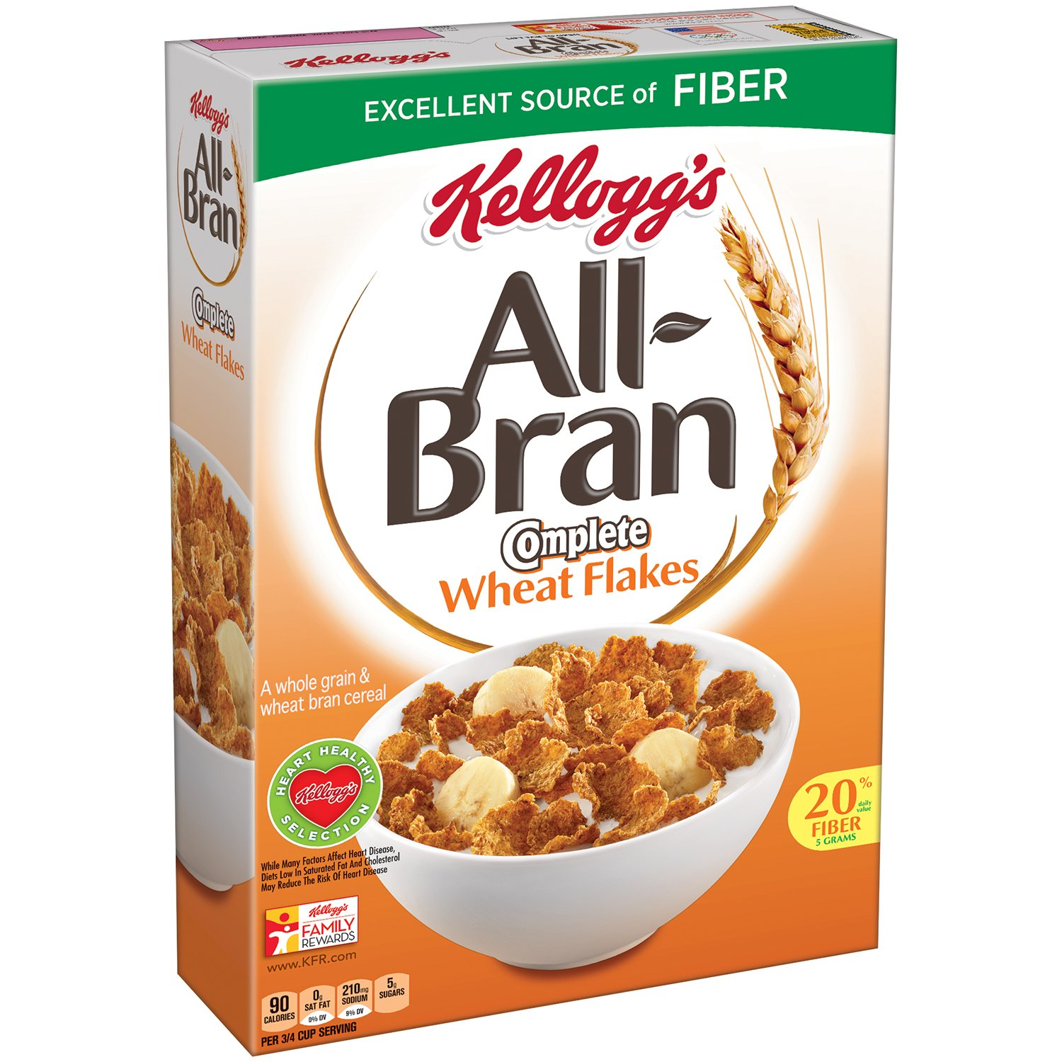Amazon kelloggs all bran breakfast cereal complete wheat 18 amazon kelloggs all bran breakfast cereal complete wheat 18 ounce box pack of 2 cold breakfast cereals ccuart Choice Image