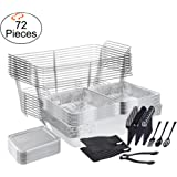 TigerChef 0026-CATERSET Catering Set Serving Dishes for Parties Includes Chafer Pans Set and Disposable Serving Utensils, Spoons and Tongs, Complete Party Serving Supplies (Pack of 72)