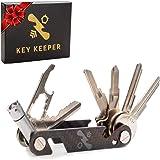 منظم مفاتيح مدمج من كي كيبر الاصلي - مصنوع من الياف الكربون والستانلس ستيل - مزود بضوء ليد ومفك ومفتاح عدة ومفتاح لفتح…