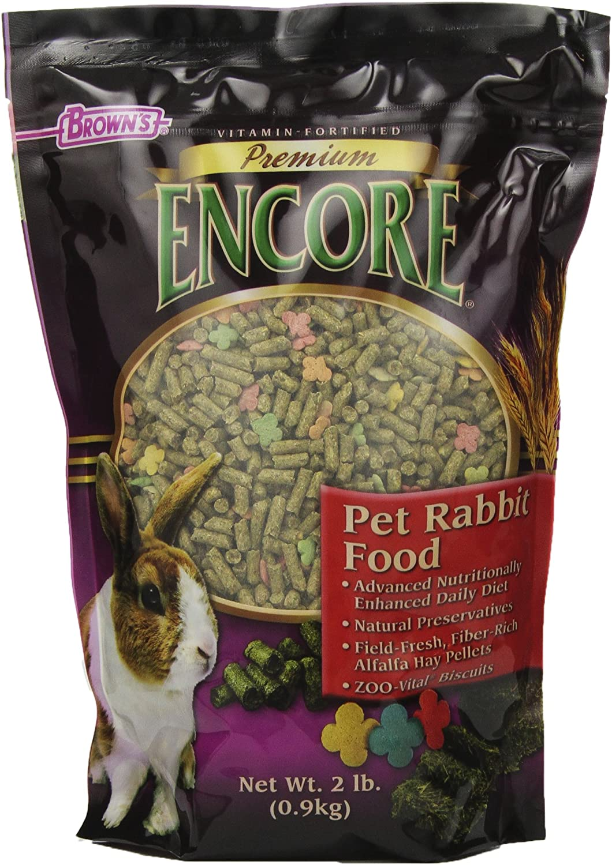 F.M. Brown'S Encore Premium Rabbit Pet Food, 2-Pound