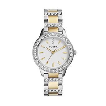 ca7003fb788f Fossil Women s Jesse Quartz Two-Tone Stainless Steel Dress Watch Color   Silver Gold (