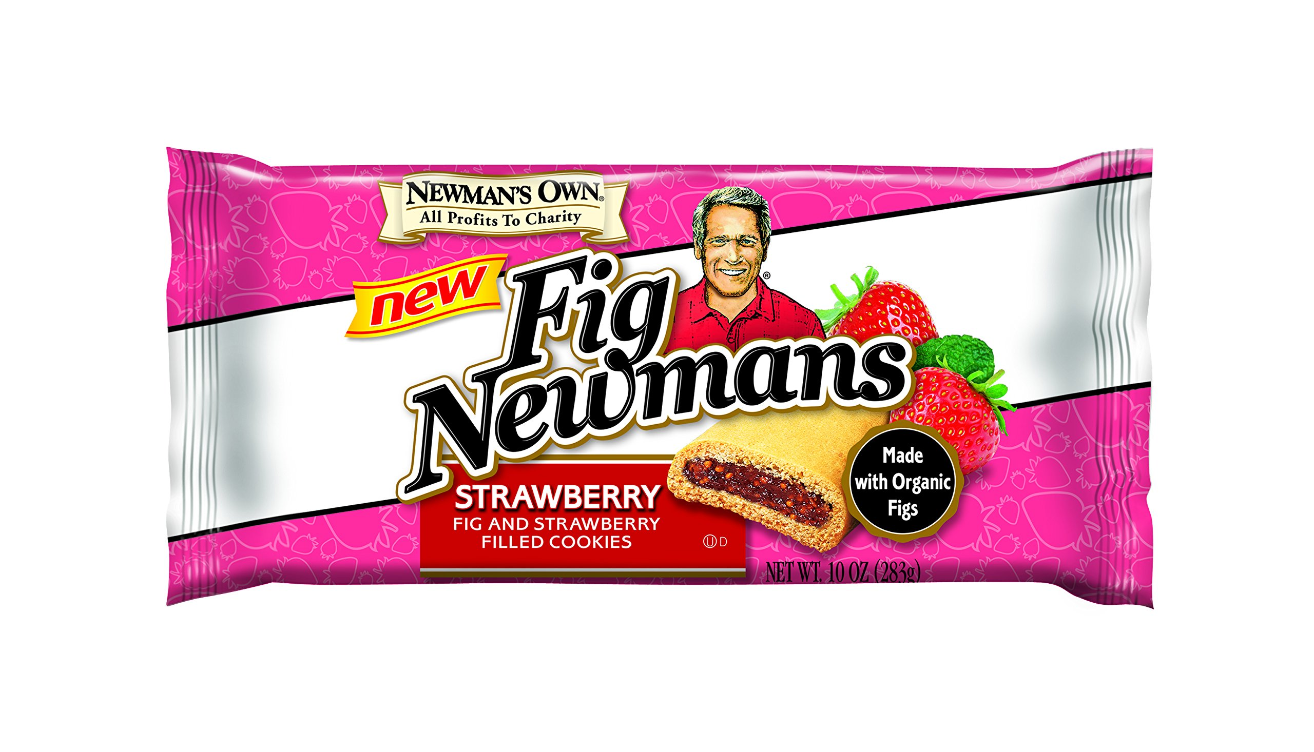 Newman's Own Fig Newmans Strawberry Filled Cookies, 10 Ounce (Pack of 6)