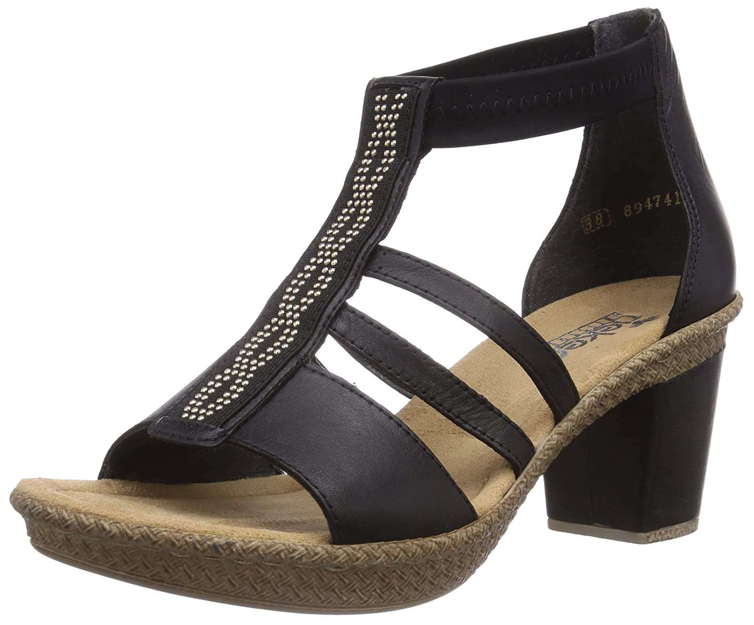 6adc4700f16 Rieker 66554, Women's Ankle Strap Sandals