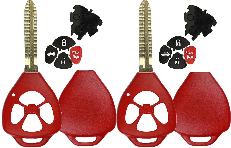 KeylessOption Keyless Entry Remote Key Fob Shell Key Blade Case For Toyota Camry Corolla Rav4 Matrix Venza Yaris (Pack of 2) LYSB00KTHX0I8-ELECTRNCS