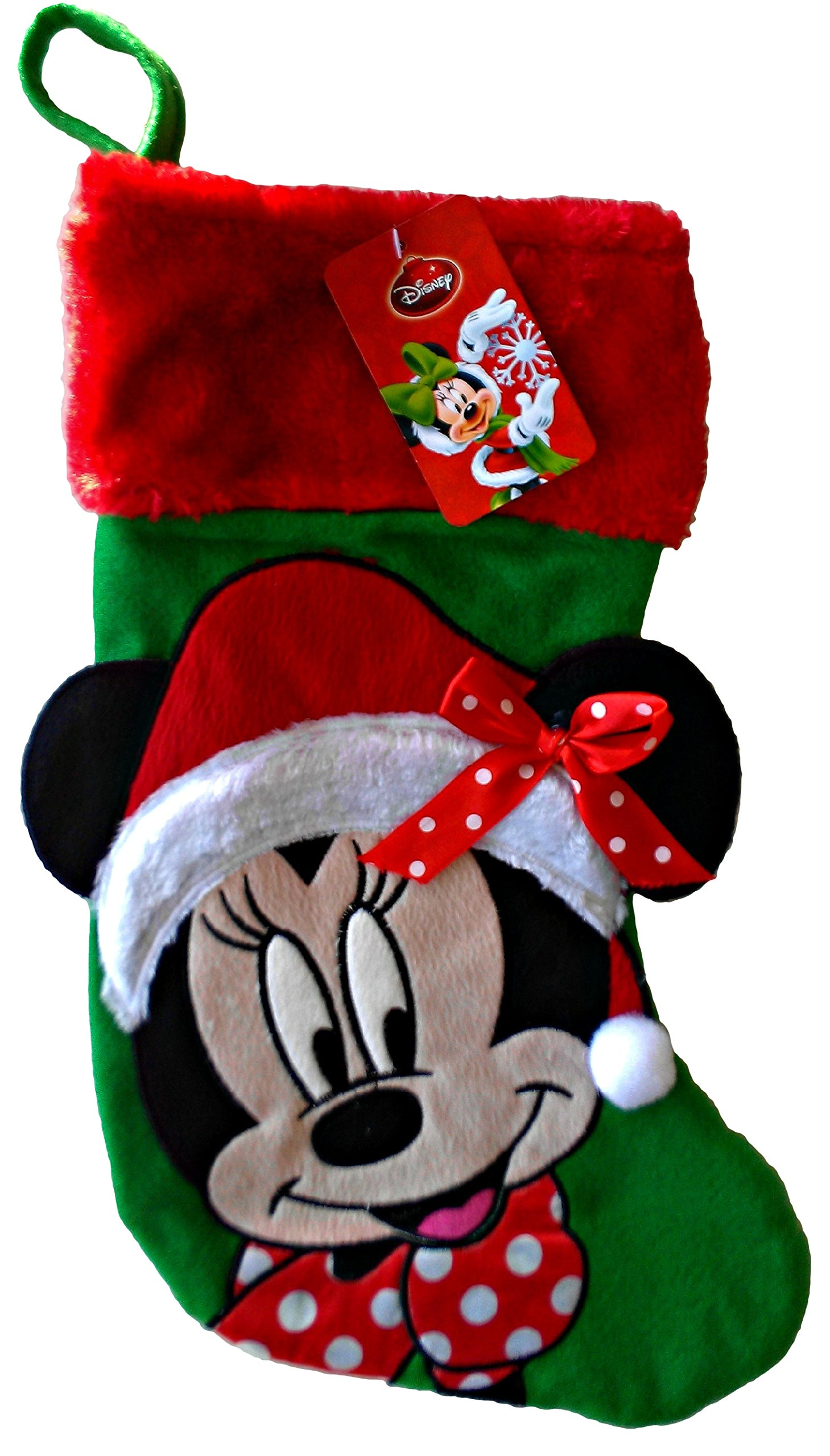Disney Minnie Mouse 18'' Inch Big Face Christmas Stocking by Disney