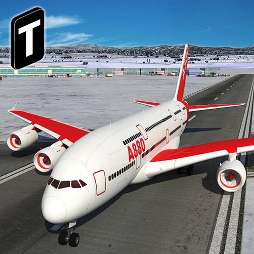 Snow Cargo Jet Landing 3D