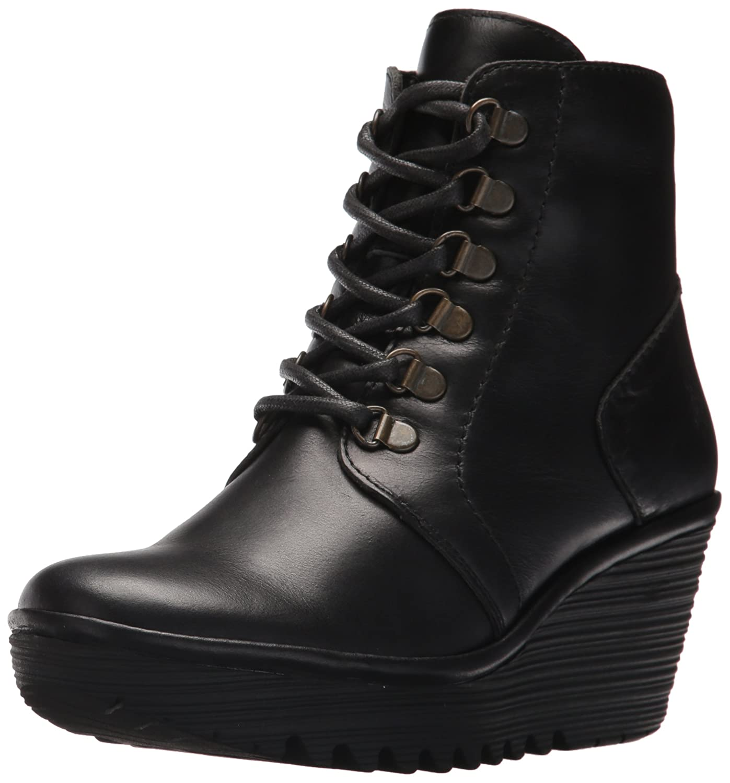 FLY London Women's Yarn772fly Oxford Boot B06X9Q3Y62 37 M EU (6.5-7 US)|Black Rug