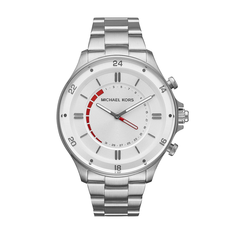 Michael Kors Reid Hybrid plateada de los hombres del reloj