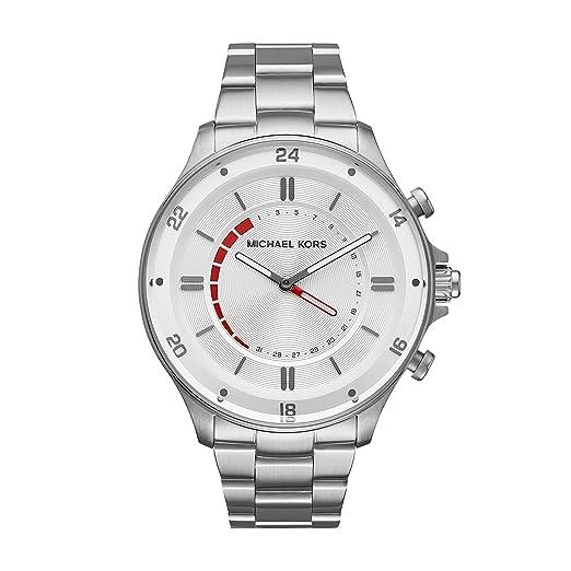 Michael Kors Reloj Analogico para Hombre de Cuarzo con Correa en Acero Inoxidable MKT4013: Amazon.es: Relojes