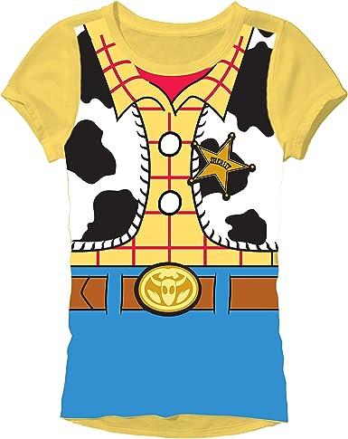 Disfraz de Woody de Toy Story (Juniors Camiseta: Amazon.es: Ropa y ...