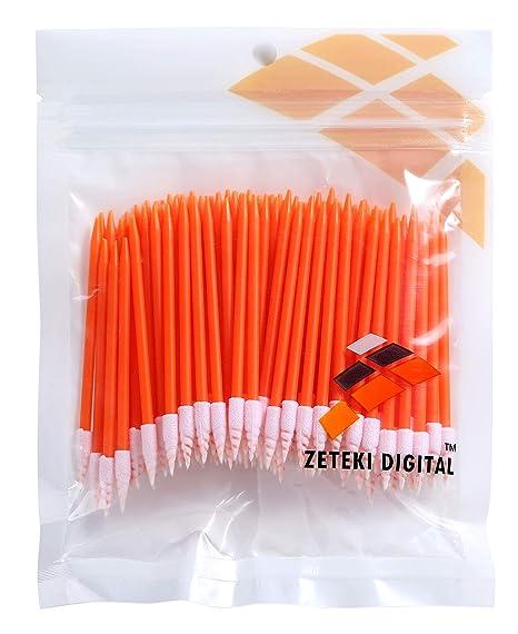 Zetek - 100 hisopos de limpieza con punta de espuma para ...