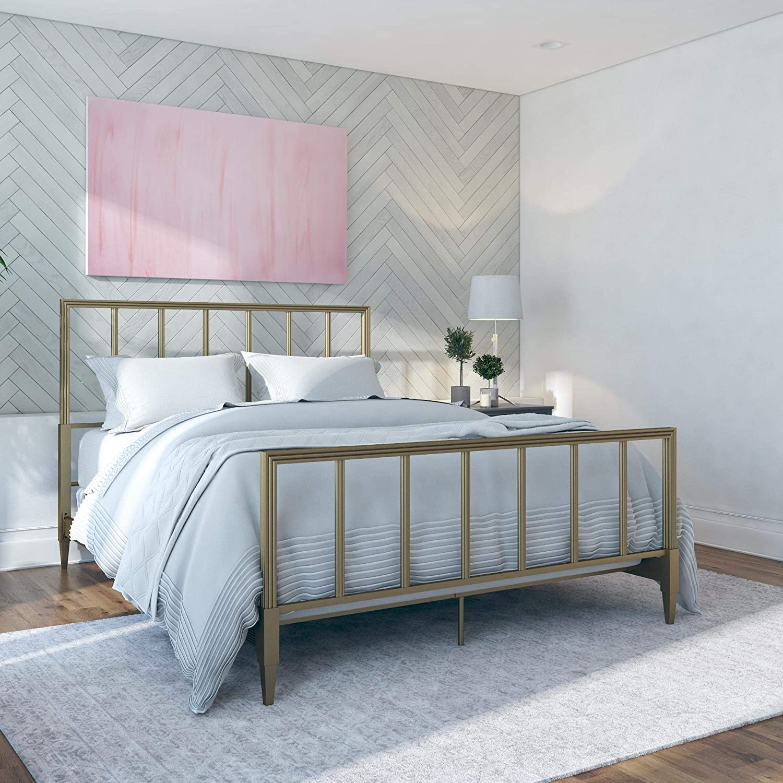 CosmoLiving by Cosmopolitan Blair Bed, Gold