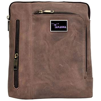 Buy Tamanna Men and Women Normal Brown Genuine Leather Sling Bag Online at  Low Prices in India - Amazon.in 1a8c0aec84f94