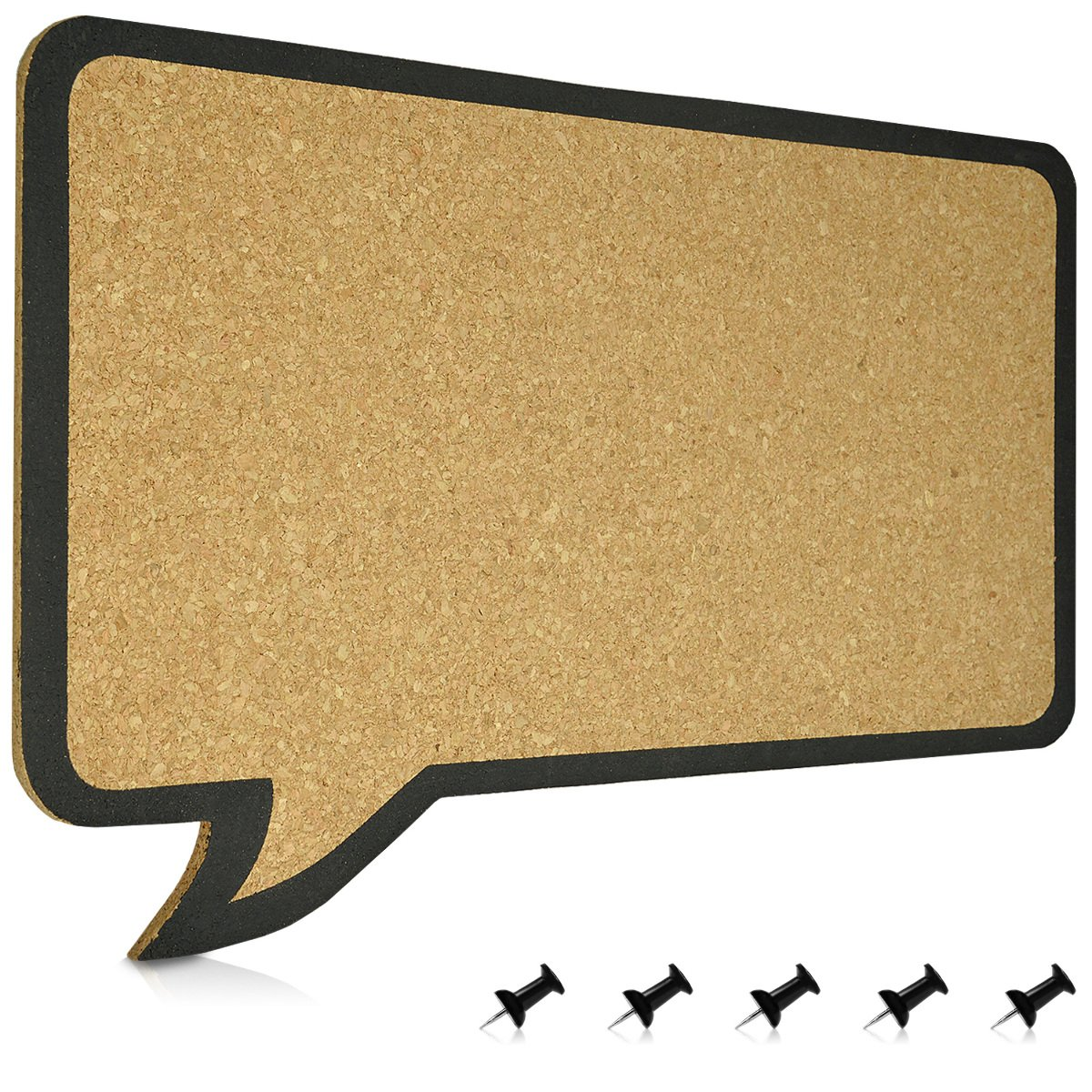 Navaris Cork Bulletin Board - 25 x 30 cm Push Pin Memo Corkboard in Owl Shape and Design with Push Pins for Kitchen, Classroom, Home Office, Bedroom KW-Commerce 45373.01_m001253