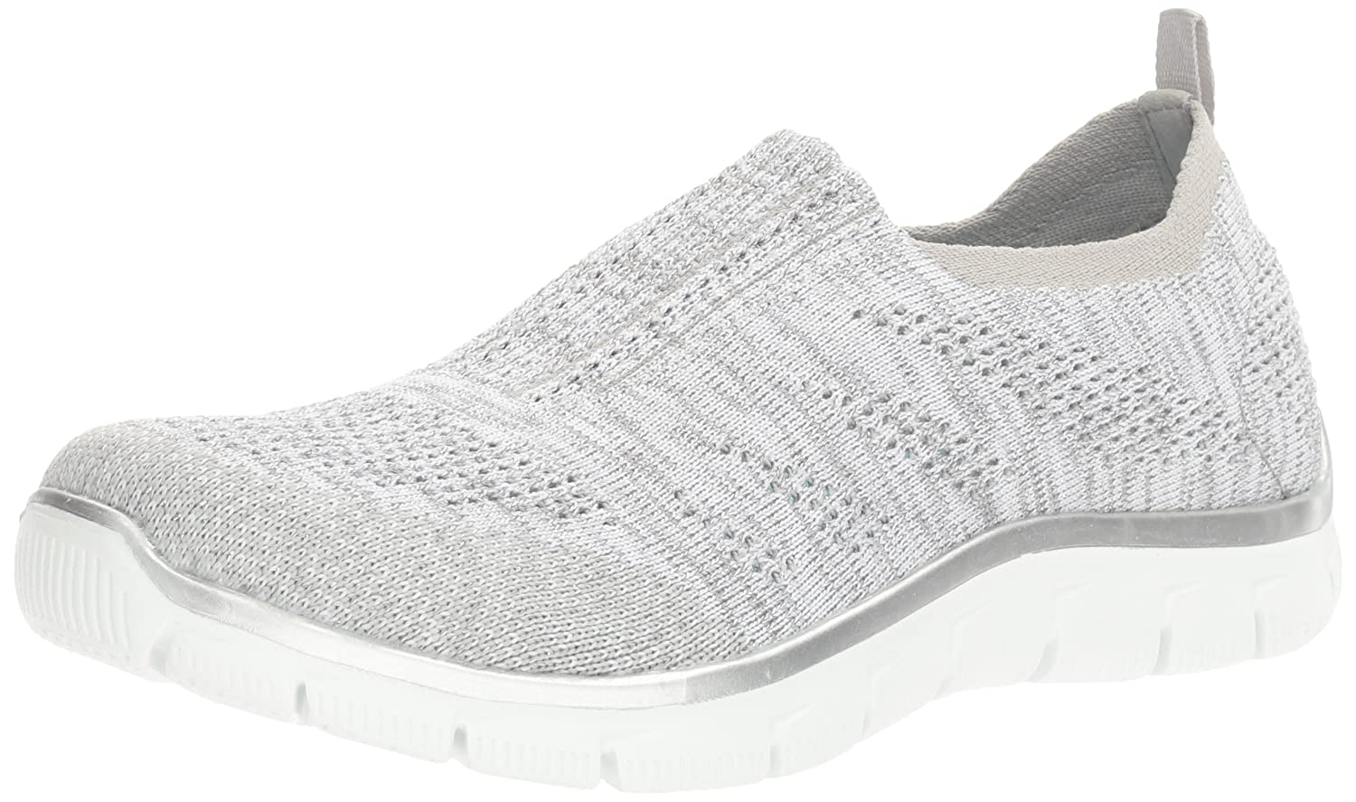 Skechers Damen Slipper Empire Round Up Grau/Silber  40 EU|Gysl Grey/Silver