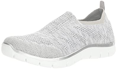 Skechers Damen Slipper Empire Round Up Grau/Silber  36.5 EUGYSL Grey/Silver