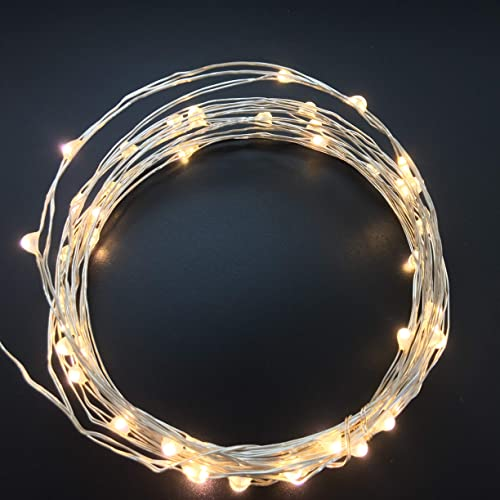 100Count Mini Leds Fairy Lights USB Led String Lights with 8 Function Controller and Timer for Indoor Bedroom Wedding Party Decorations 34Feet Silver Wire Warm White