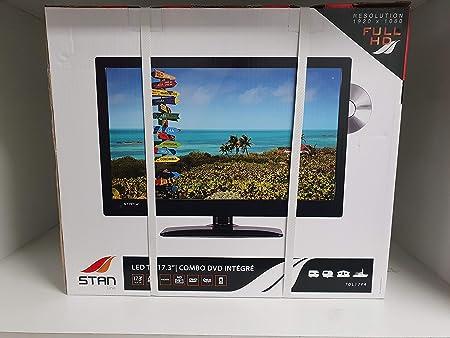 STAN TV 17.3P LED Combo DVD integrado 12/220 V: Amazon.es: Coche y moto