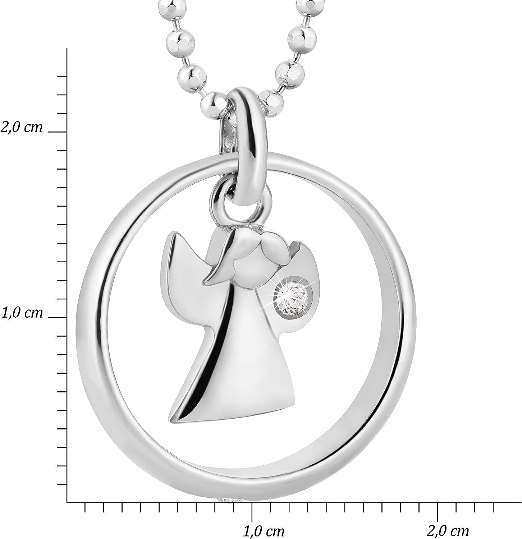 Filles en Argent Sterling 925 Swarovski Elements pendantif Ange fish cha/îne gar/çons