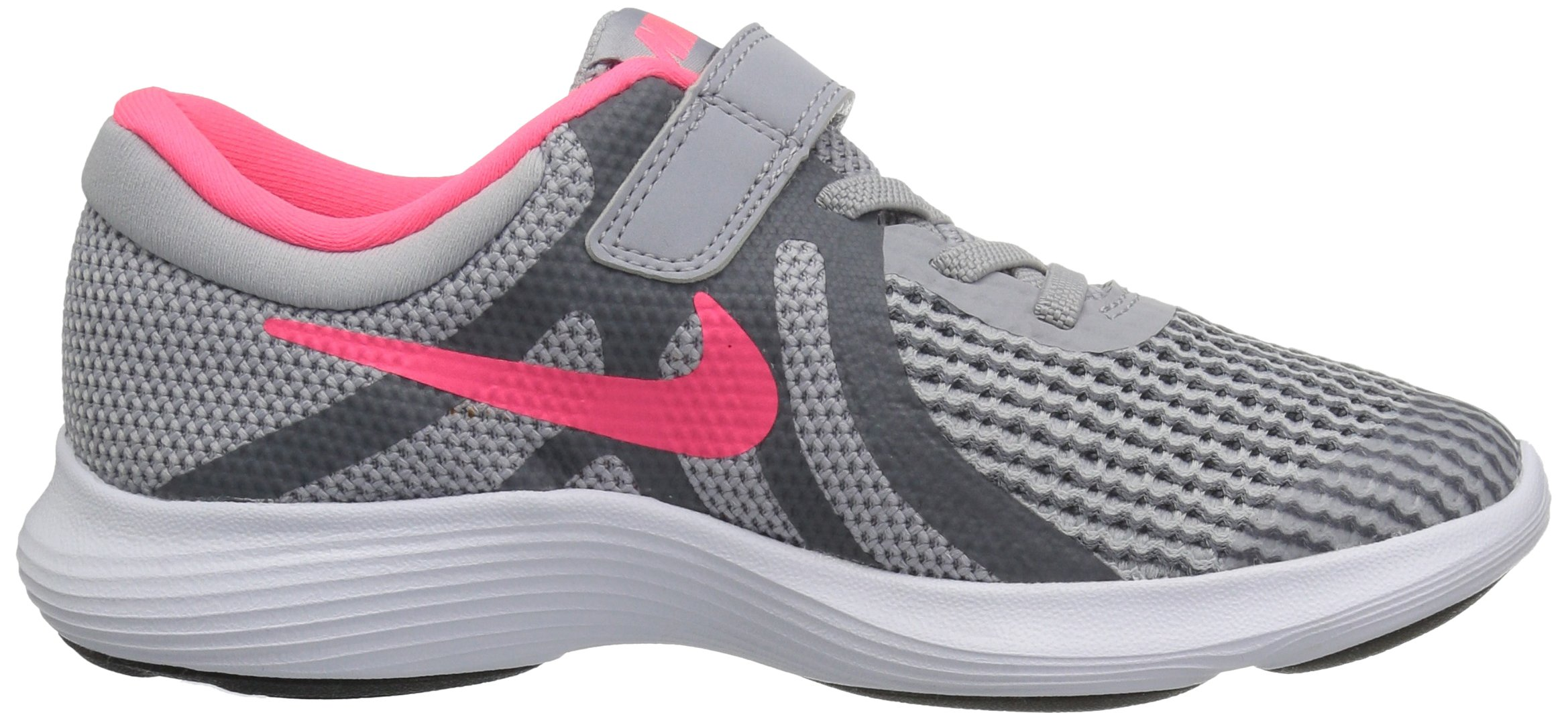 Nike Girls' Revolution 4 (PSV) Running Shoe, Wolf Racer Pink-Cool Grey-White, 3Y Child US Little Kid by Nike (Image #6)