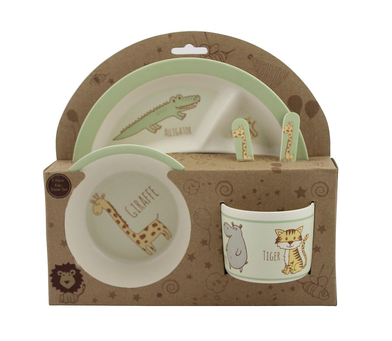 最も  Beriwinkle 5 Piece 5 Kids Mealセット B0759SS337 – TT-Parent Eco Friendly – Madeアウトのオーガニック竹繊維 グリーン TT-Parent グリーン B0759SS337, カワマタマチ:4d894bb1 --- a0267596.xsph.ru