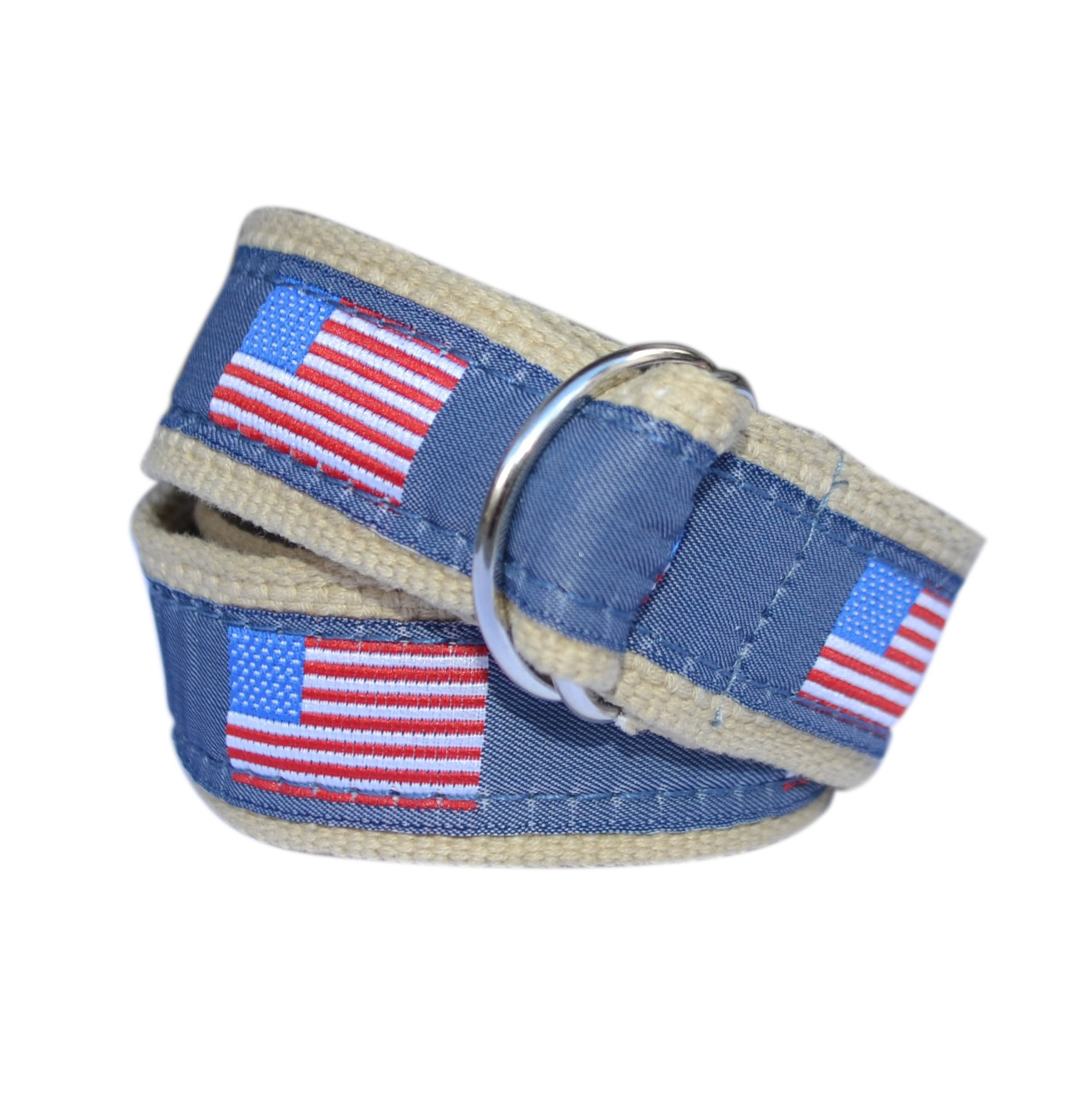 Bean Belts Boy's American Flag Belt (Large (6-8))