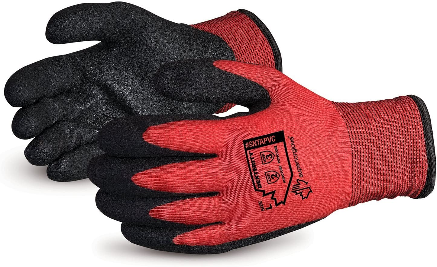 Superior Winter Work Gloves - Fleece-Lined with Black Tight Grip Palms (Cold Temperatures) SNTAPVC – Size X-Large