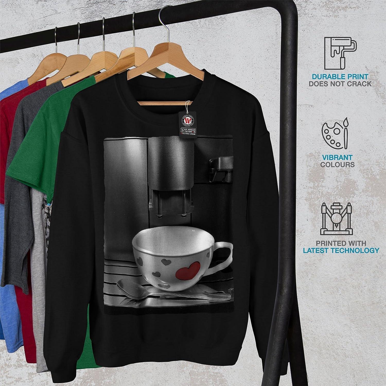 Skyscraper Casual Jumper wellcoda Coffee Cup Heart Mens Sweatshirt