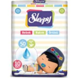 Sleepy Pepee Bebek Bakim Örtüsü, Beyaz, 10 Adet