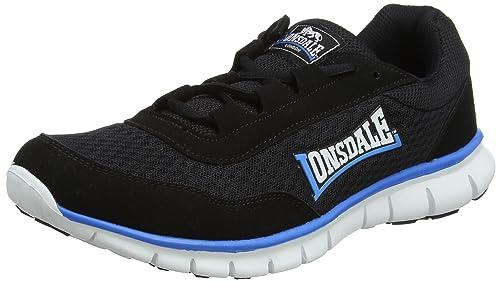 Southwick, Zapatillas de Deporte para Exterior para Hombre, Negro (Black/White/Blue), 43 EU Lonsdale