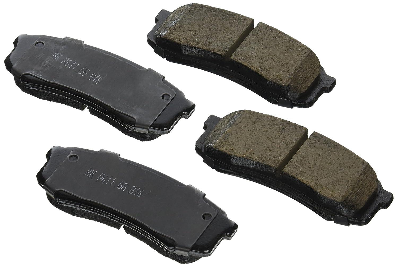 Akebono Performance ASP606 Akebono Performance Ultra Premium Ceramic Disc Brake Pad Kit