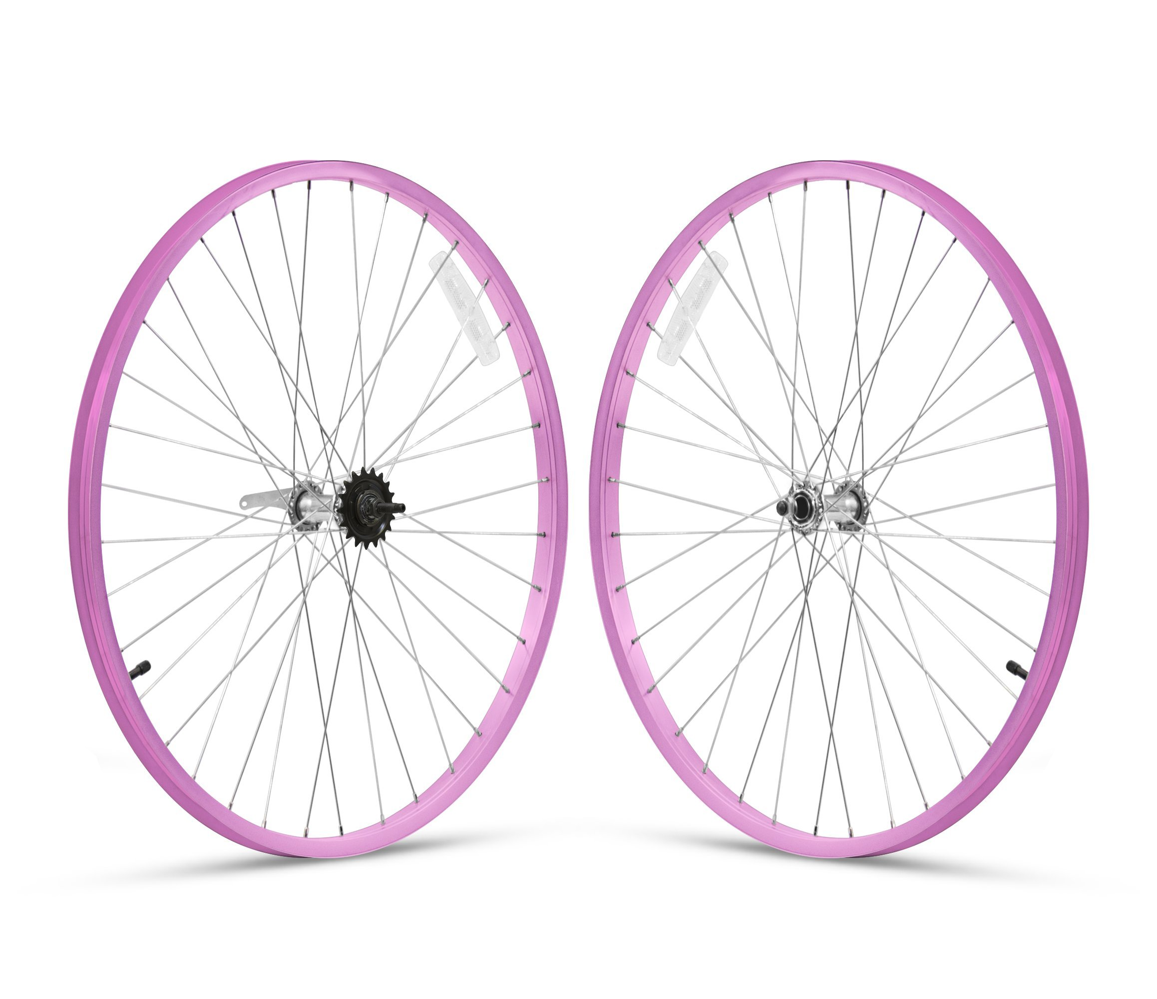 Firmstrong 3-Speed Beach Cruiser Bicycle Wheelset, Front/Rear, Pink, 26'' by Firmstrong