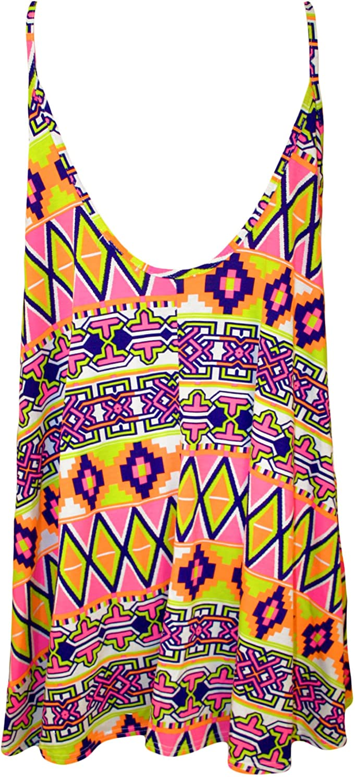 Robes WearAll Tailles 44 /à 54 Grande Taille imprim/é Mini-Robe d/ébardeur Top Femmes