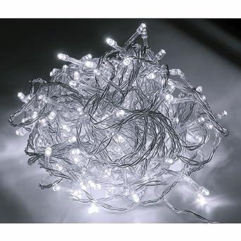 Weihnachtsbeleuchtung Außen Zug.400er Led Strom Lichterkette Für Außen Lichtfarbe Kaltweiss Kabel Transparent