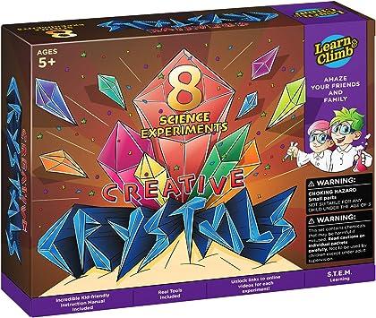 Learn & Climb Kit de experimentos de Ciencias en Crecimiento de Cristales: Amazon.es: Juguetes y juegos