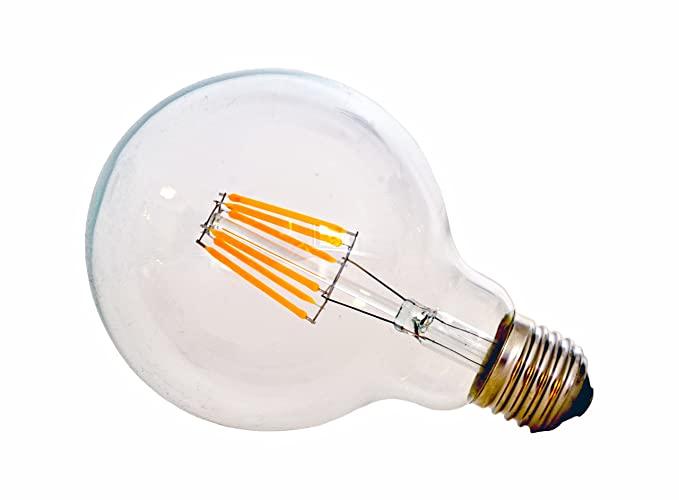 Alimaz- Bombilla LED G95, diseño vintage tipo globo ...